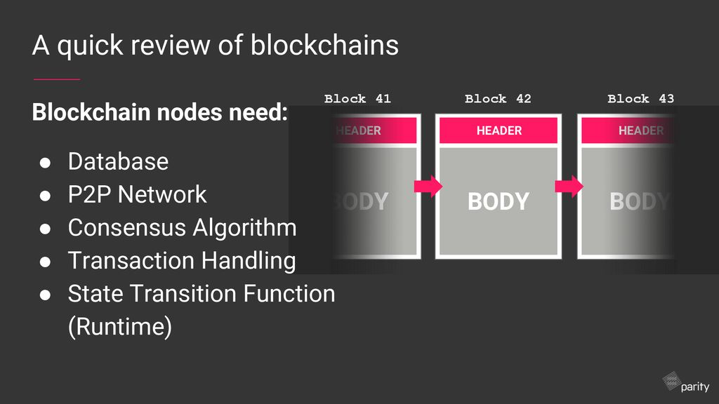 Substrate An open source framework for building blockchains