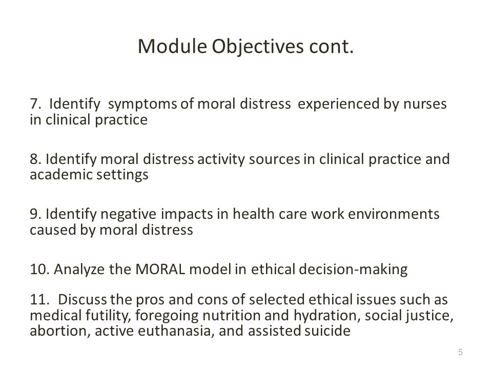 Module Objectives cont.