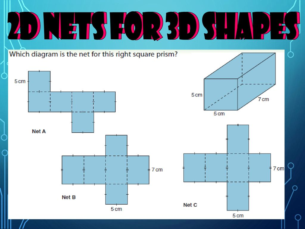 Identifying the nets of 3D shapes - ppt download