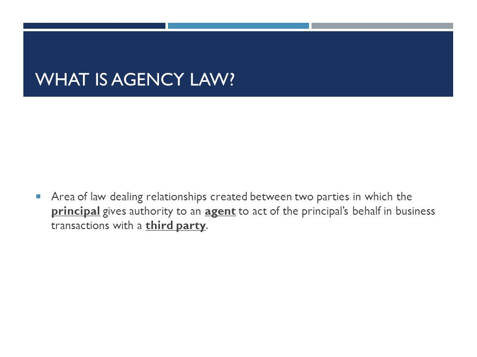 What is agency law