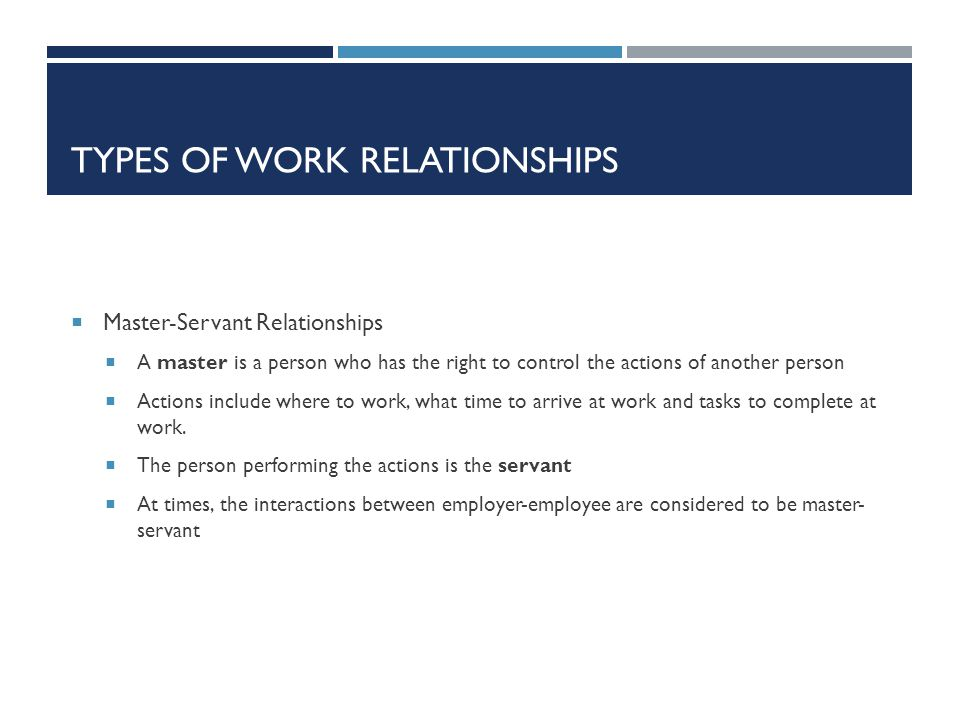 Types of Work Relationships