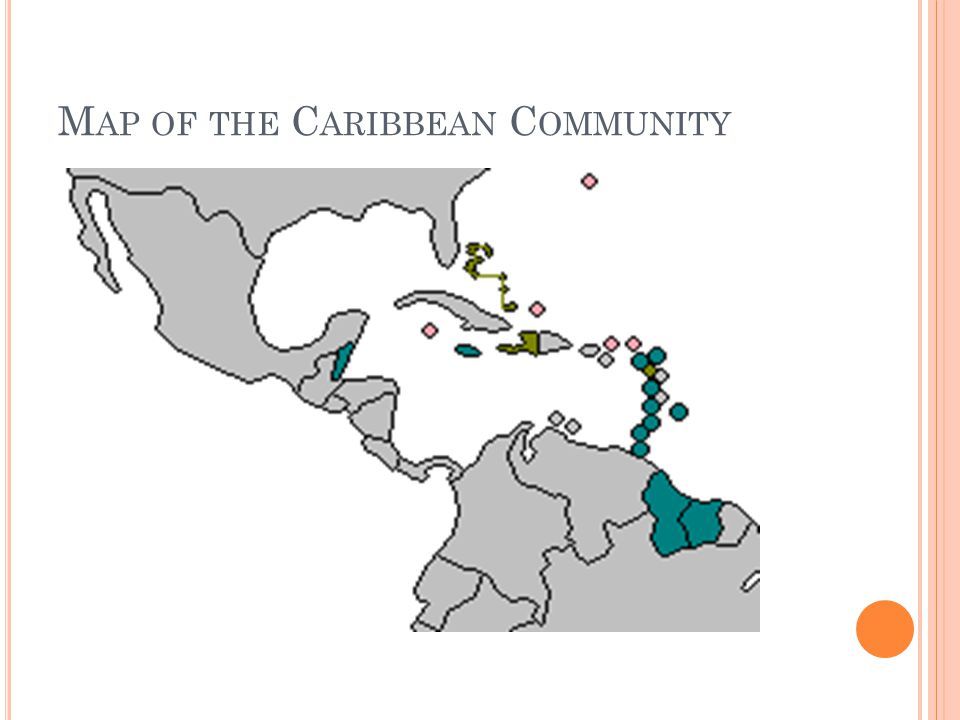 Map of the Caribbean Community