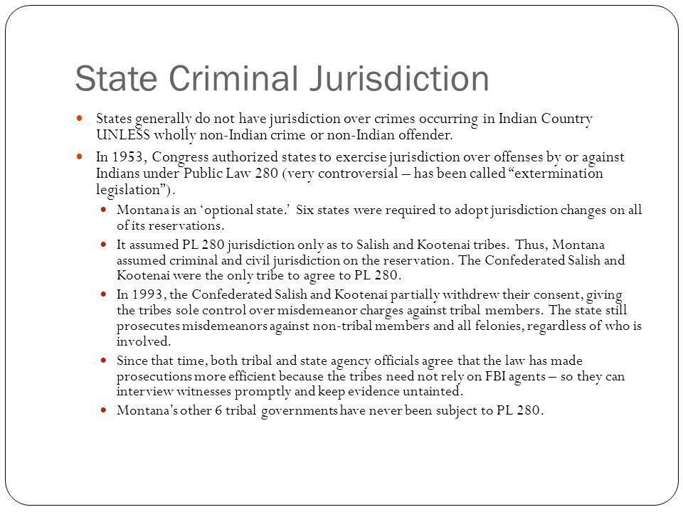 State Criminal Jurisdiction
