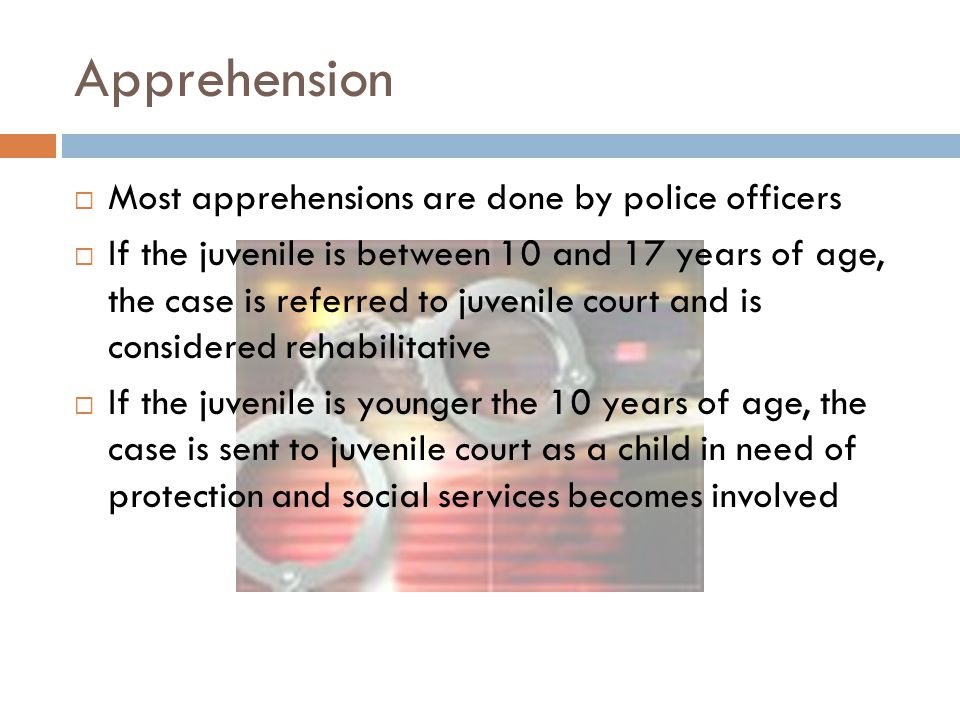Apprehension Most apprehensions are done by police officers