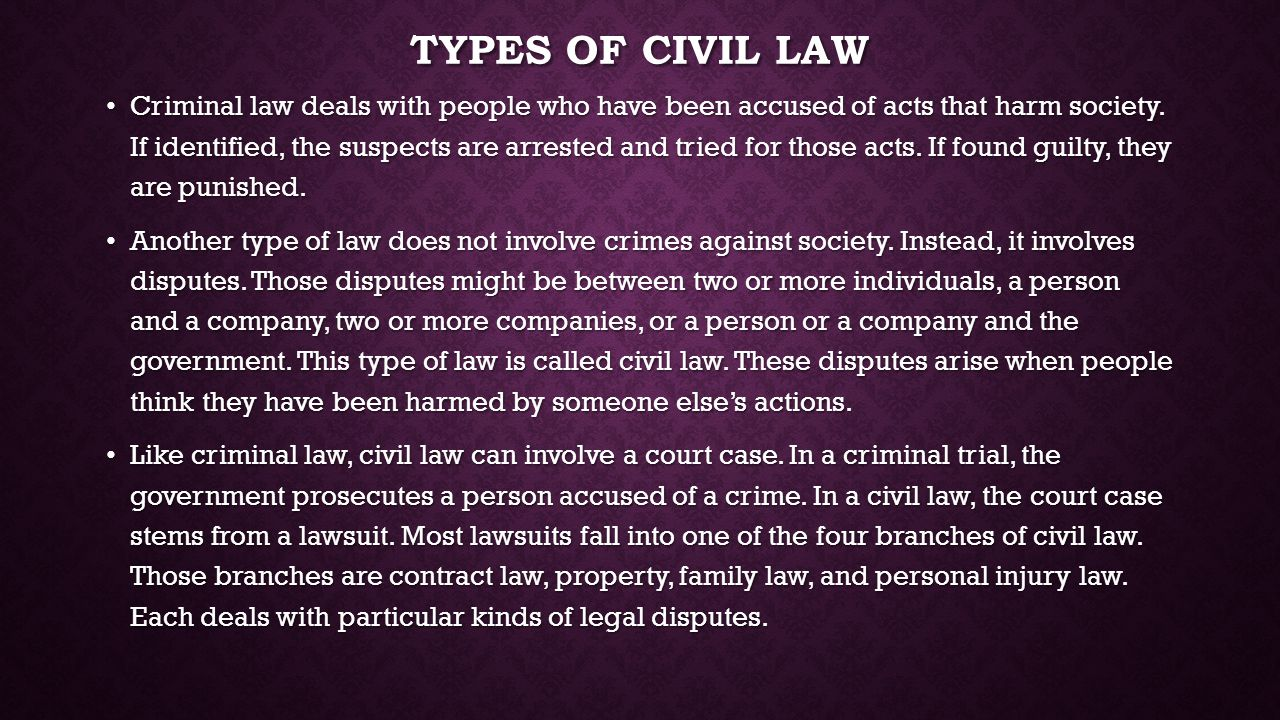 Types of civil law
