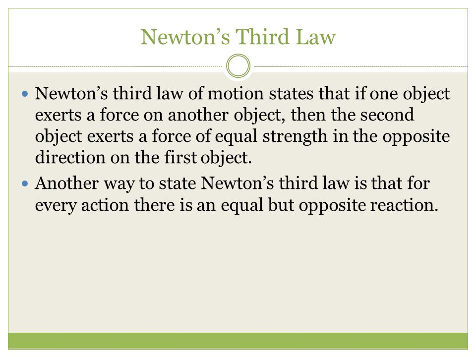 third law of motion pictures