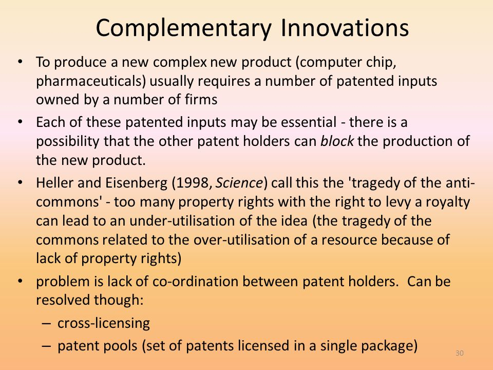 Complementary Innovations