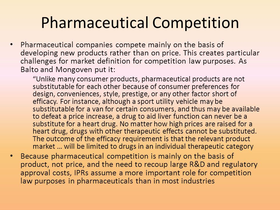 Pharmaceutical Competition