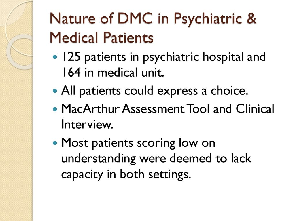 Myths & Pitfalls About Decisional Capacity for Family Medicine - ppt