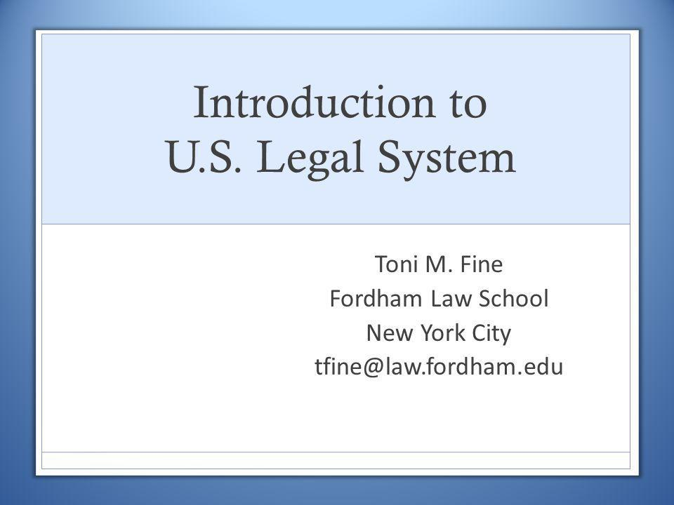 Introduction to U.S. Legal System
