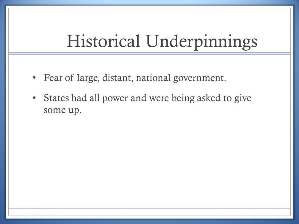 Historical Underpinnings