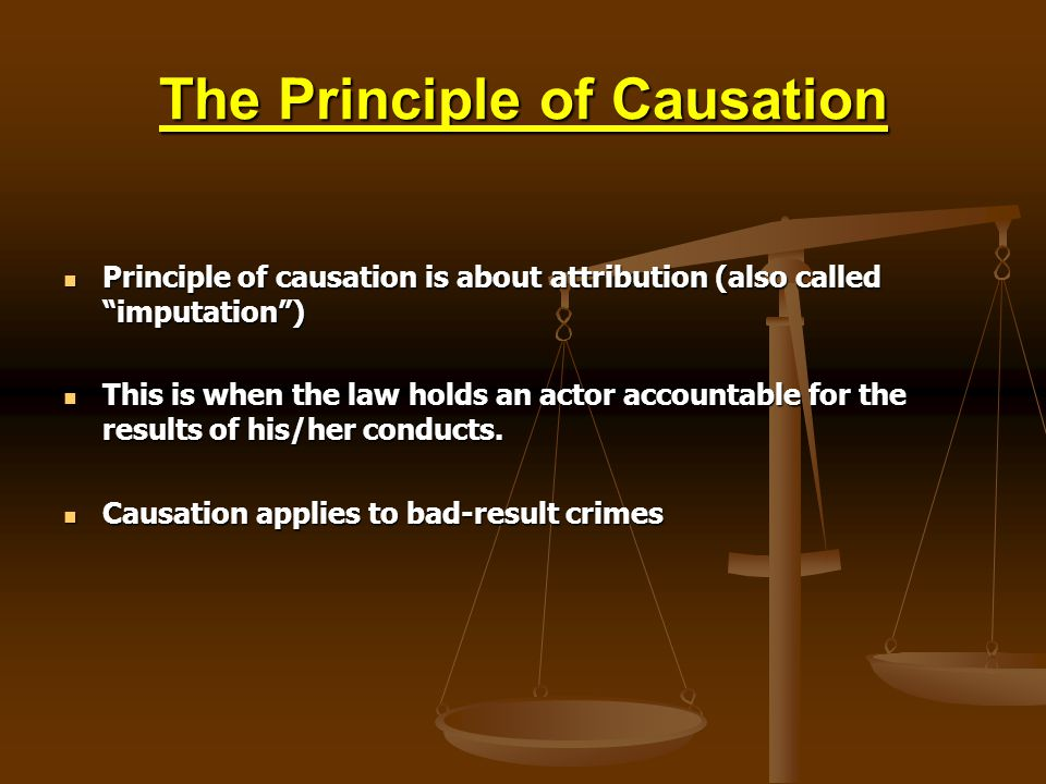 The Principle of Causation