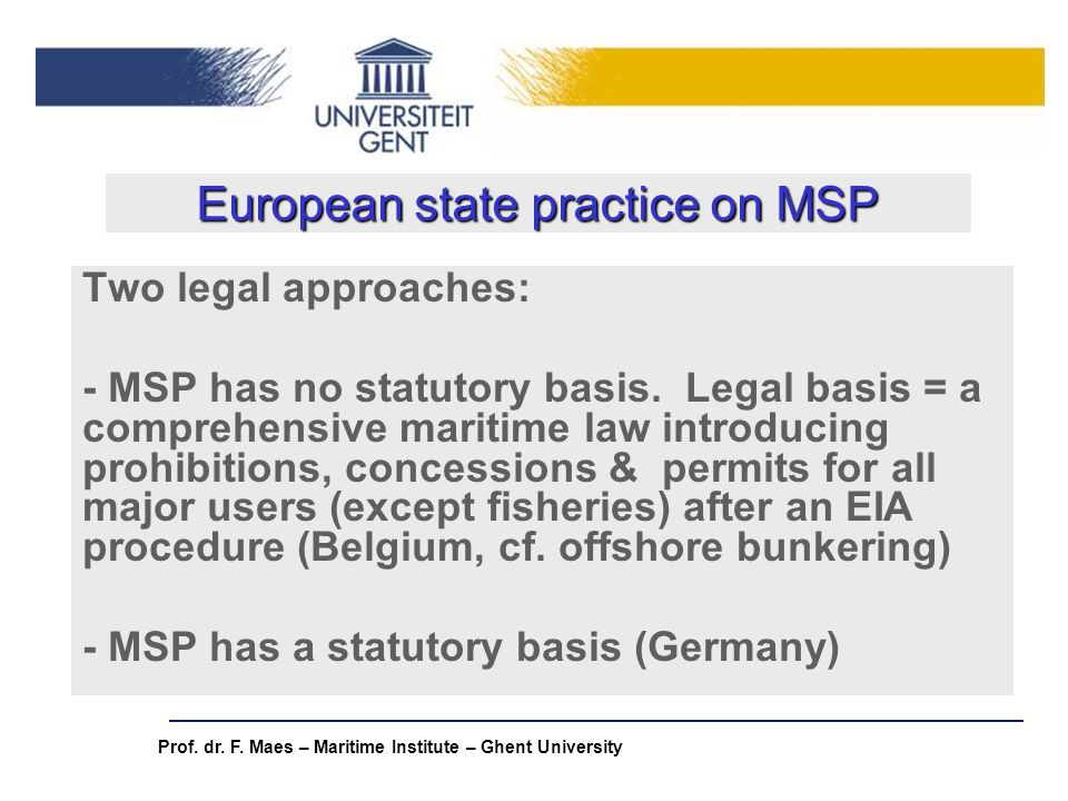European state practice on MSP