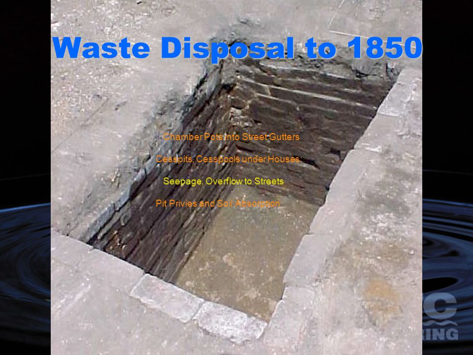 Waste Disposal to 1850 Chamber Pots into Street Gutters