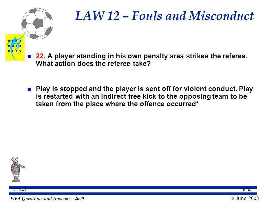 LAW 12 – Fouls and Misconduct