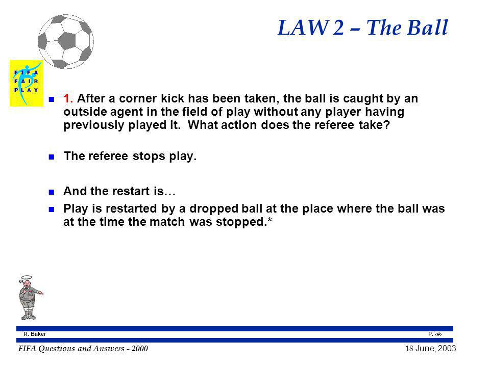 LAW 2 – The Ball