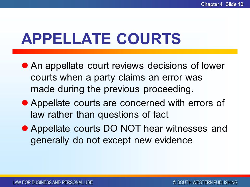 Chapter 4 APPELLATE COURTS.