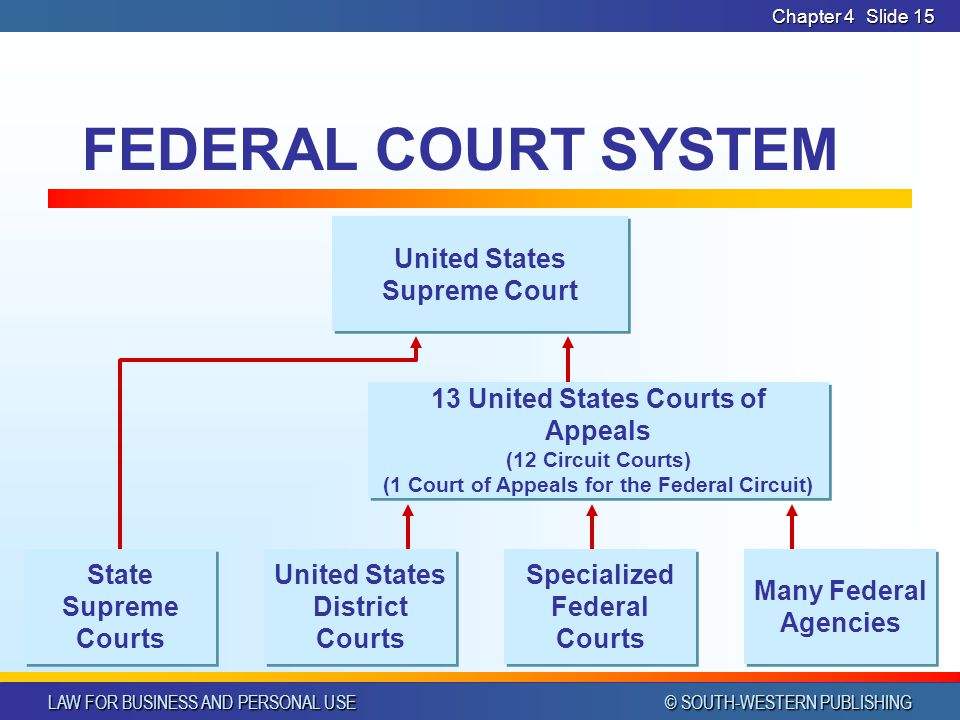 FEDERAL COURT SYSTEM United States Supreme Court State Supreme Courts