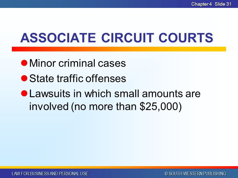 ASSOCIATE CIRCUIT COURTS