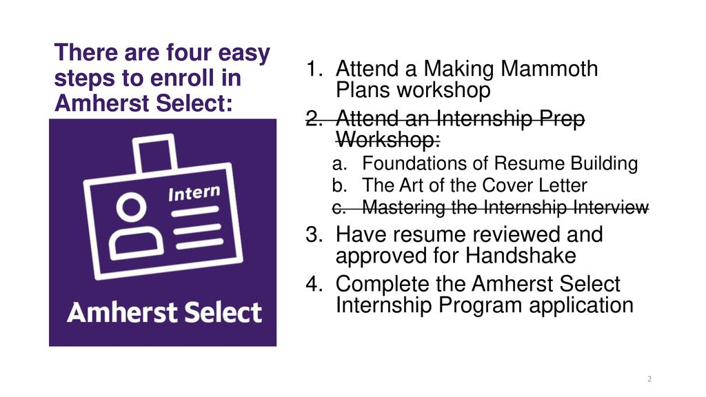 There Are Four Easy Steps To Enroll In Amherst Select
