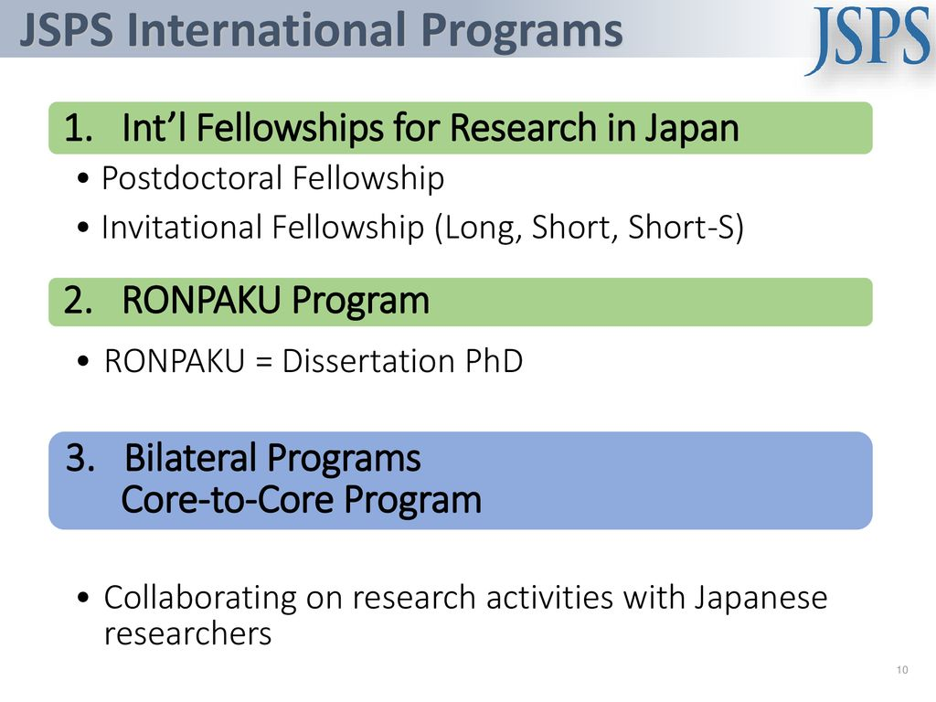 JSPS's Activity in Asia and Collaborative Programs with