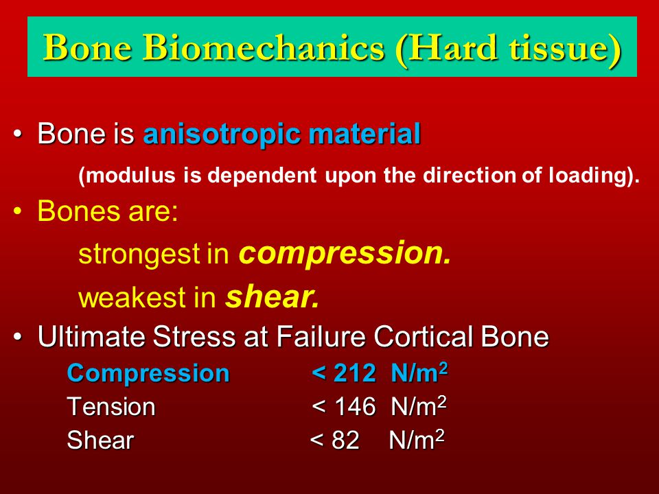 Bone Biomechanics (Hard tissue)