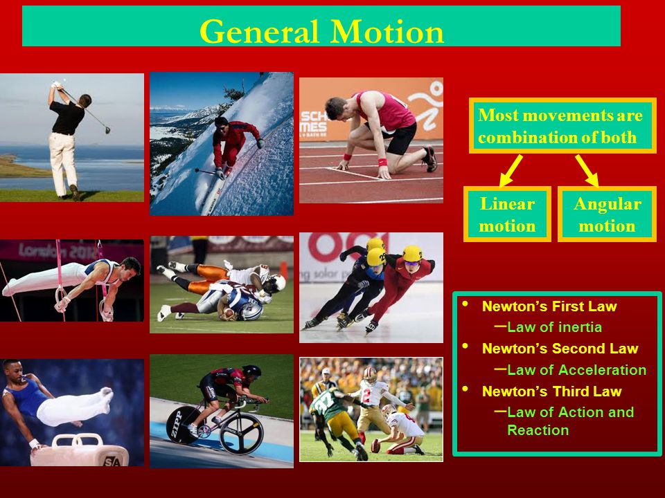 General Motion Most movements are combination of both Linear motion
