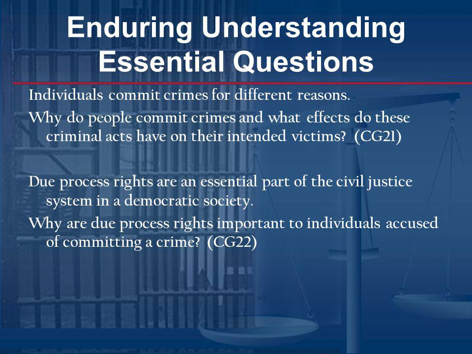 Enduring Understanding Essential Questions