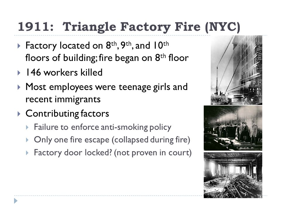 1911: Triangle Factory Fire (NYC)