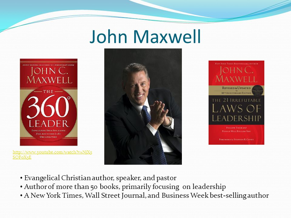 John Maxwell Evangelical Christian author, speaker, and pastor
