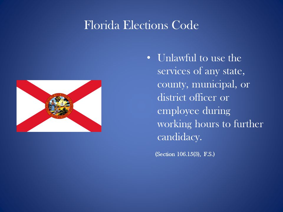 Florida Elections Code