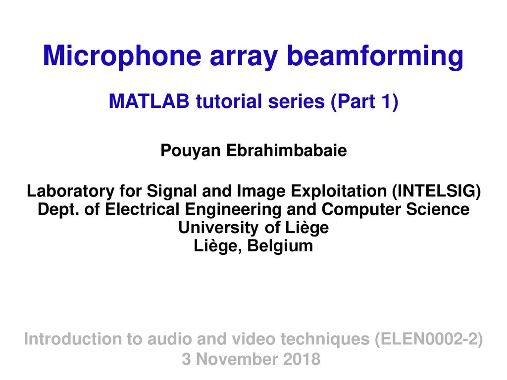Microphone array beamforming - ppt download