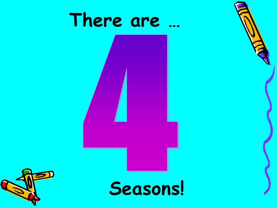 There are … 4 Seasons!