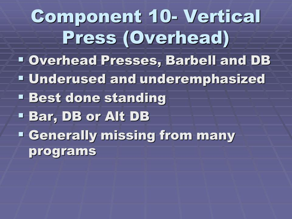 Component 10- Vertical Press (Overhead)