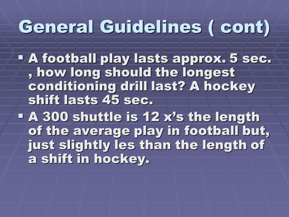 General Guidelines ( cont)