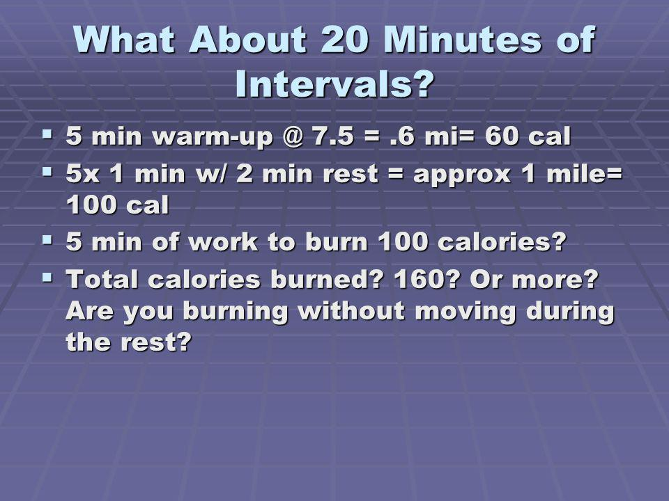 What About 20 Minutes of Intervals