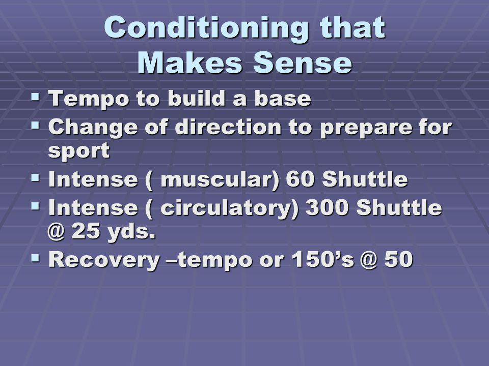 Conditioning that Makes Sense