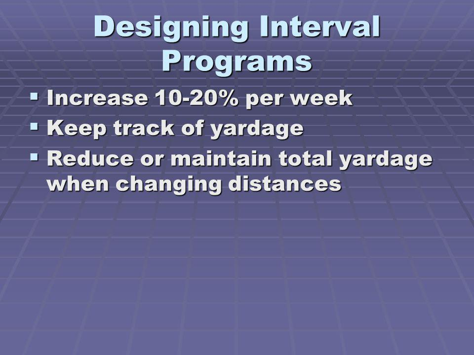 Designing Interval Programs