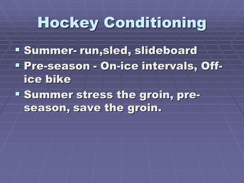 Hockey Conditioning Summer- run,sled, slideboard