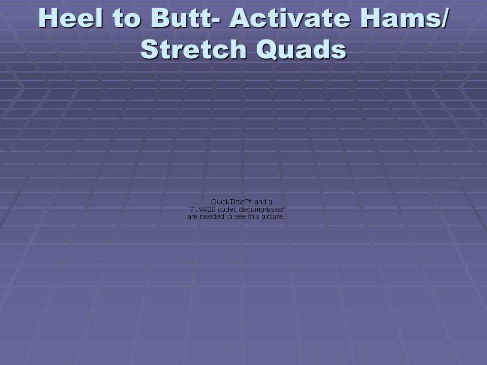 Heel to Butt- Activate Hams/ Stretch Quads