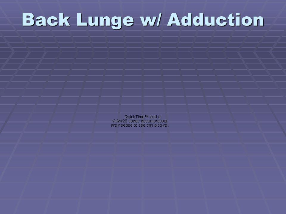 Back Lunge w/ Adduction
