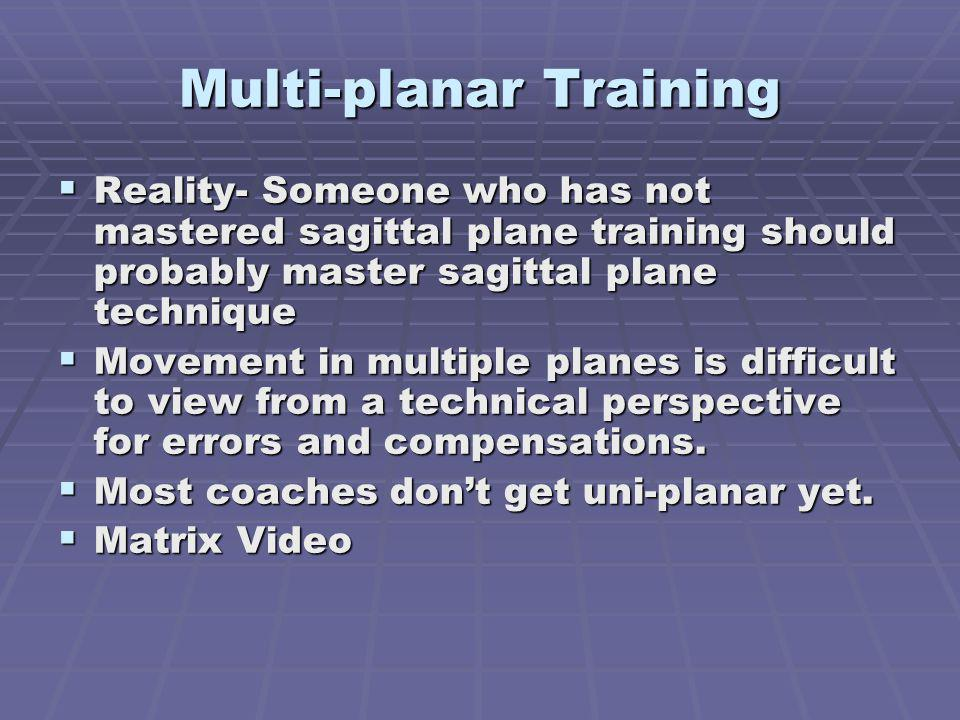 Multi-planar Training