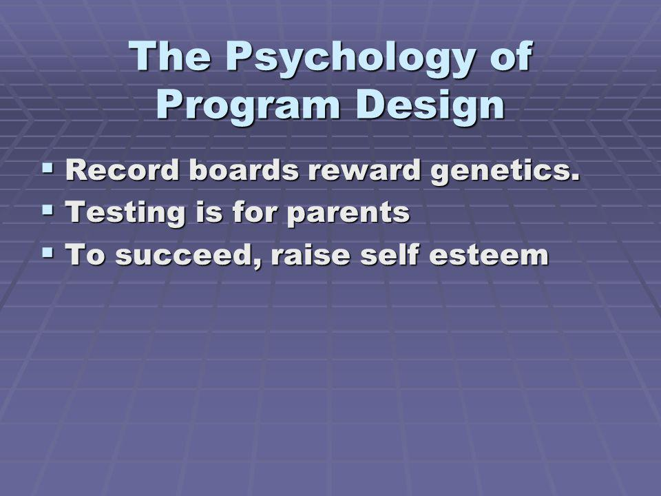 The Psychology of Program Design