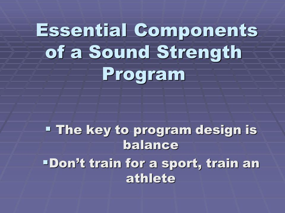 Essential Components of a Sound Strength Program