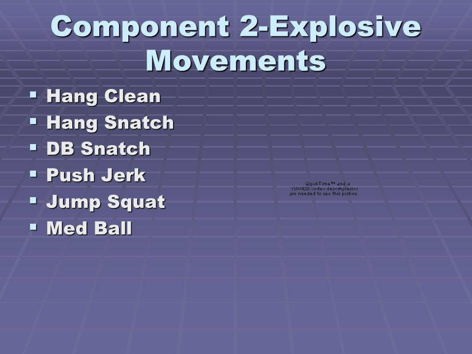 Component 2-Explosive Movements