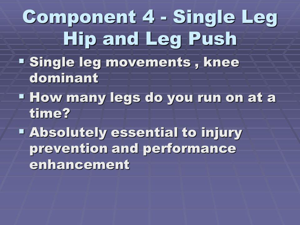 Component 4 - Single Leg Hip and Leg Push