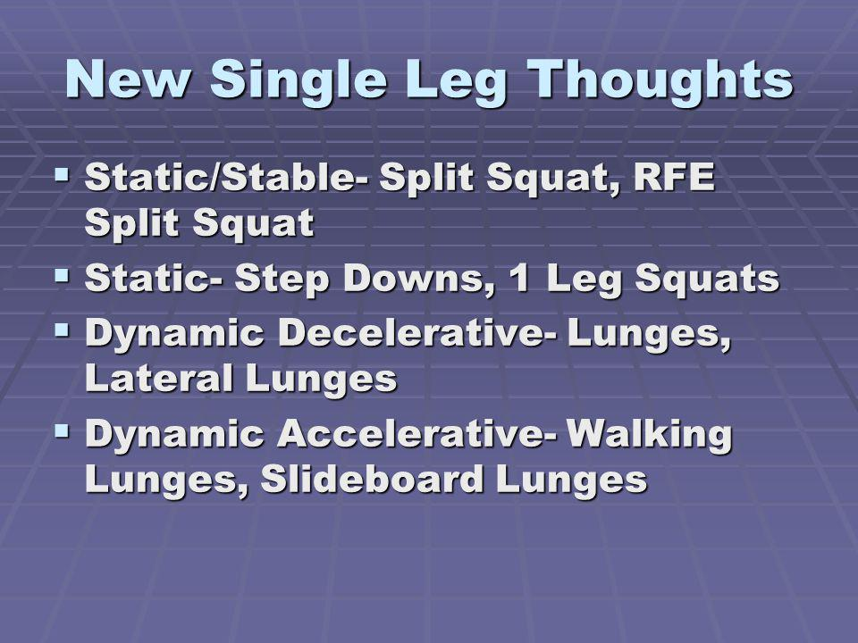 New Single Leg Thoughts