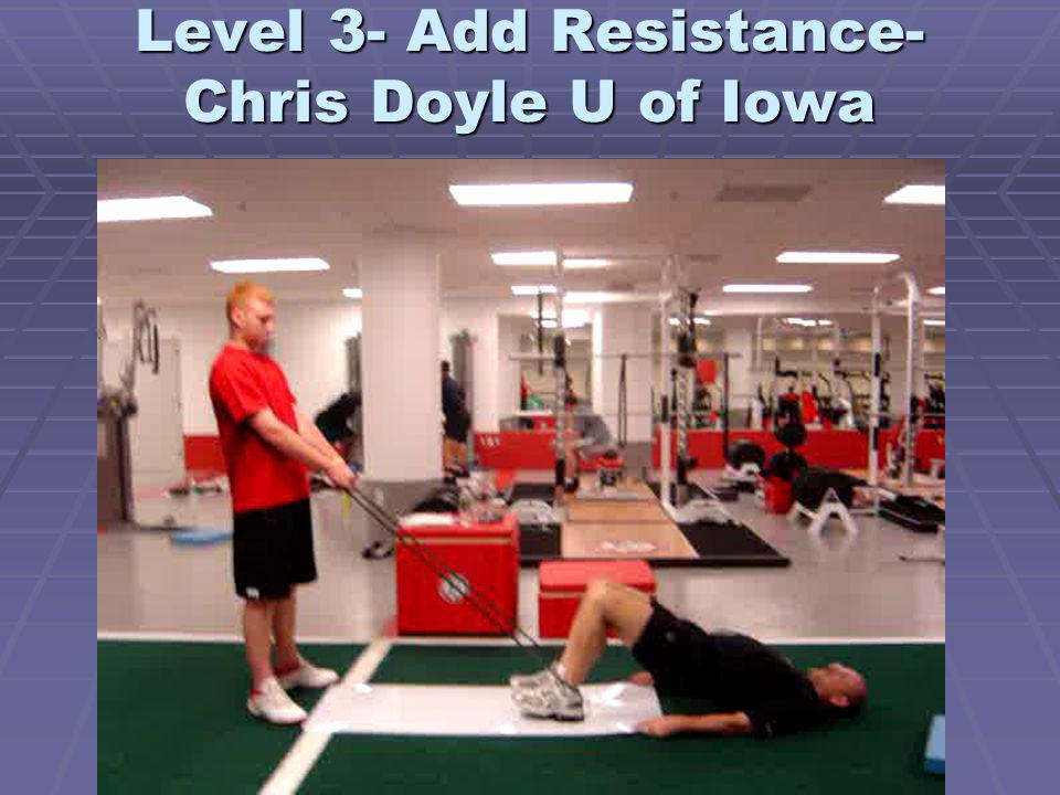 Level 3- Add Resistance- Chris Doyle U of Iowa