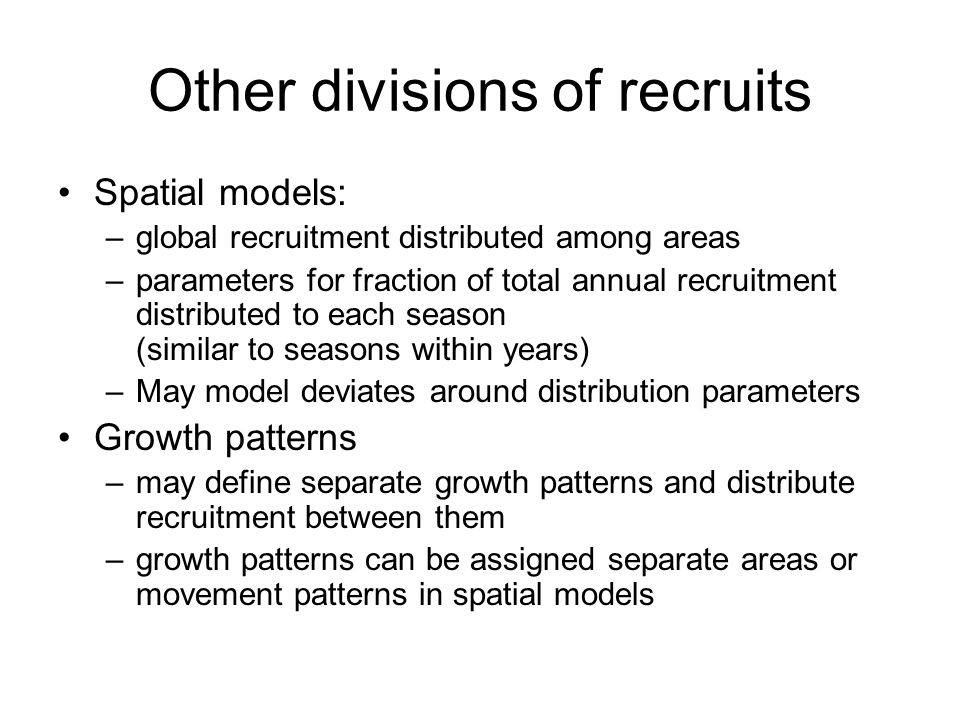 Other divisions of recruits