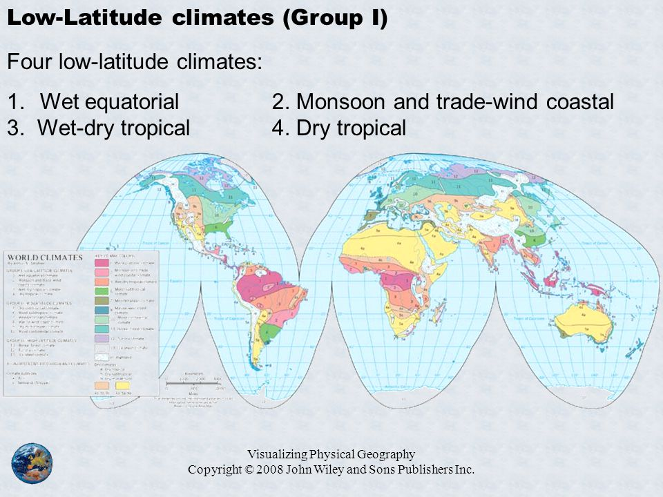 Low-Latitude climates (Group I)